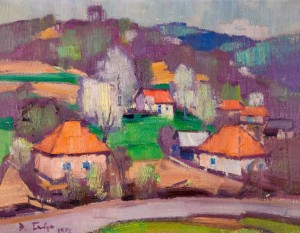 Red Roofs, 1972, oil on canvas, 55х70