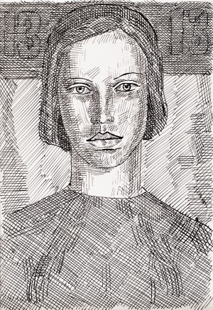 Hryhorii Havrylenko (1927 – 1984) «Women's Portrait», 1960s