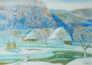 Parents House, 2012, watercolour on watman, 57х81