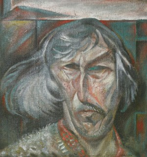 Self-portrait. Grey-haired, 1993, oil on canvas, 50x45