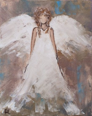 'Angel', 2018, oil on canvas