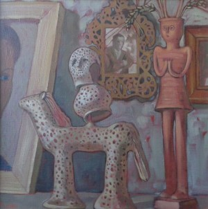In Potters Studio III, 2012, oil on canvas, 40x40