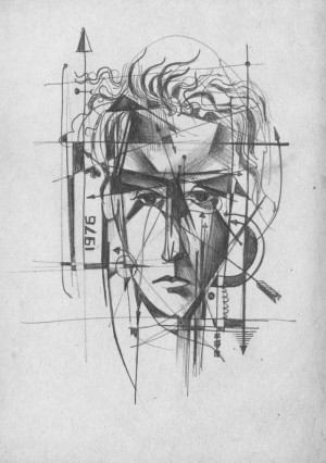 B. Korzh Self-portrait', 1976