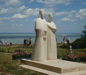 Памятник Угорському королю Андрію І та королеві Анастасії дочці Ярослава Мудрого, 2001