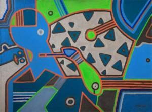 Space, 2015, п. акр., 75х100