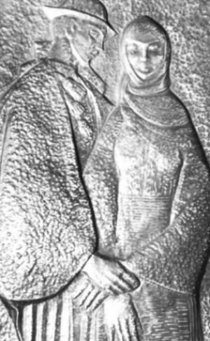 Закохані, мідь, карбування, 1969 р., 64х39
