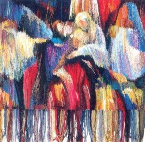 Карпатська мелодія, 1999, гоб.,руч.ткац.,вов., 100х100
