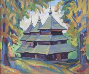 Михайлівська церква, 1998, карт. г., 52х44