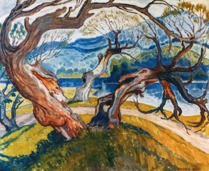 Choreography Of Trees, 1977, oil on canvas, 85x103