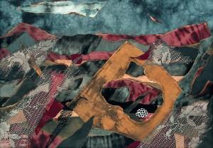 Перед грозою,1993, колаж, текстиль