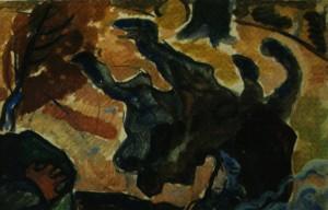 Біля ватри, 60-ті рр., пап. темп., 60х80