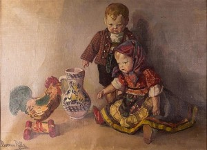 R. Boemm Children With Toys'