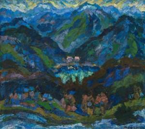 Синевирське озеро, 1994, п.т., 80х90