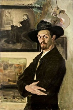 B. Karlovskyi Self-portrait With A Hat', oil on canvas, 107x72