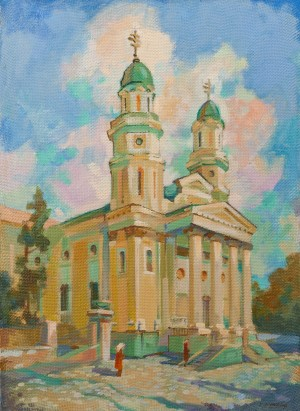 E. Levadska 'Temple', 2011, mixed technique on canvas, 70x50