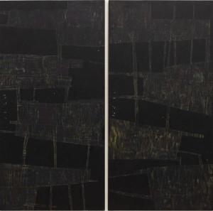 Ната Попова. ПРОПИСИ, 2019 р. Дошка, акрил, 100х60 (диптих)