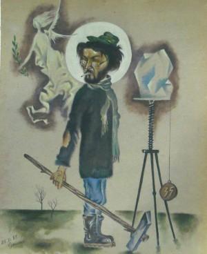 Портрет скульптора Богдана Коржа, 1987