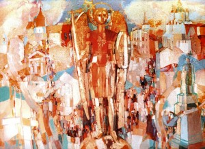 Archangel Michael, 2003, oil on canvas, 125x170