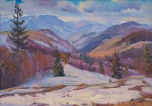 Сенько В. 'Останній сніг на перевалі', 2017, п.о., 50х70