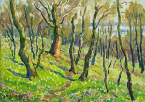 Valley Of Daffodils, 1974, tempera on canvas, 62x118