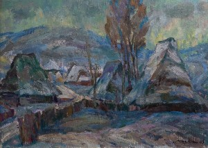 Z. Mychka Thaw', 1983, oil on cardboard, 65x85