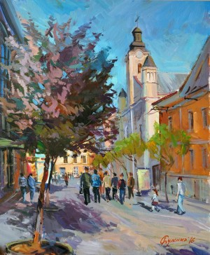 Весняний Ужгород, к.акр., 50х40