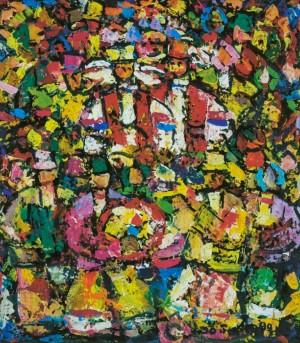 Holiday, 1990, tempera on canvas, 60х50