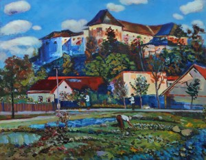 D. Mitsovda Uzhhorod Castle In Past', 2018, oil on canvas, 56x70