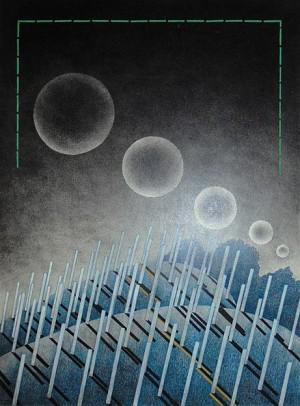 N. Ponomarenko 'Young Vineyards', 1977, mixed technique on paper, 36x34.jpg