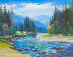 V. Senko The Beginning Of Autumn', 2009, oil on canvas, 90x115