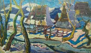 Верховинський пейзаж, 1959, к.о., 48,5х81,5