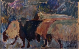 Z. Mychka Sheep', 1994, acrylic on cardboard, 50x70