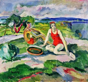 Near the river (Bathers), 1938