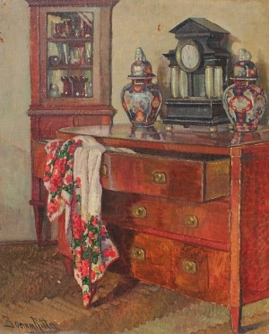 R. Boemm In The Interior', oil on canvas