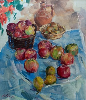 F. Erfan 'Still Life With Apples', 2017