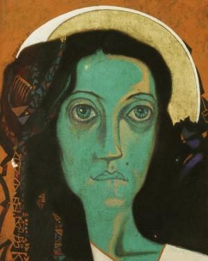 Портрет ночі, 1989, п.т.жовткова емульсія, бронза
