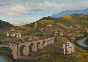 V. Parii Station 'Karpaty', oil on canvas, 90x120