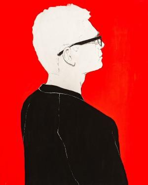 I. Prokopenko Untitled', 2018, acrylic, paper, pen, 50x30
