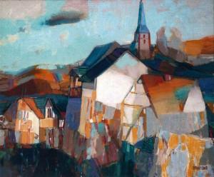 Auerbach. Twilight, 2002, oil on canvas, 50x60