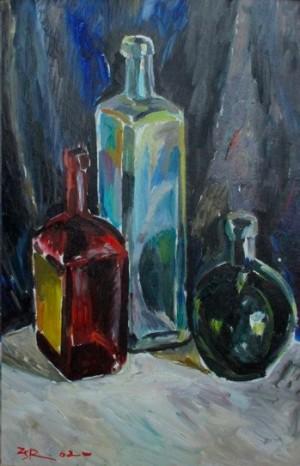 'Bottles', 1962, 49.5х35