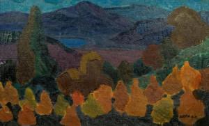 Вид на гори, п.о., 48х78