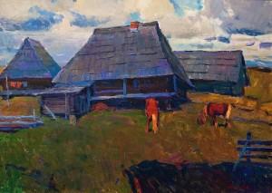 Z. Mychka Verkhovyna Motif', 1992, oil on cardboard, 50x70