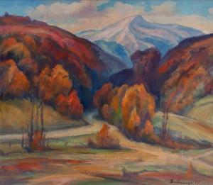 Y. Babynets 'Autumn Landscape'