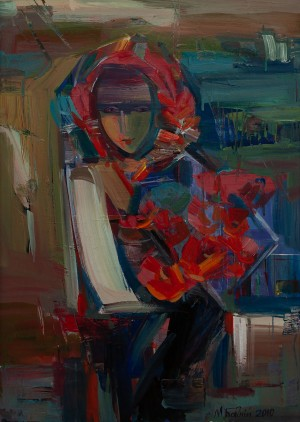 M. Bahnii 'A Girl With Poppies'