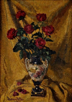 R. Boemm Bouquet Of Roses', oil on canvas, 84x59