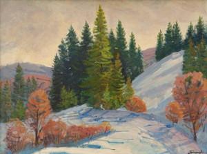 I. Bondarenko 'The End Of Winter In Podobovets Village'.