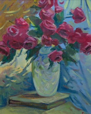Y. Katran Roses', 2016, oil on canvas, 40x50