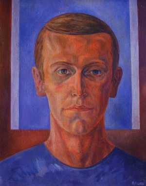 V. Lyba Self-portrait', 1971, cardboard, oil on canvas, 43x55