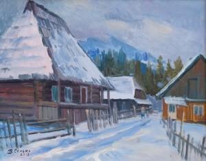 V. Senko Rural Street', 2018, oil on canvas, 45x55