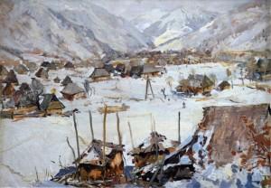 Село під горами, 1960, к.о., 49х69,5